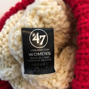 984c9ad7866 47 Accessories - Matterhorn SF 49ers Football Pom Pom Beanie NWT